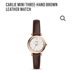 Mini Carlie Rose Gold Fossil Watch - 2 bands!